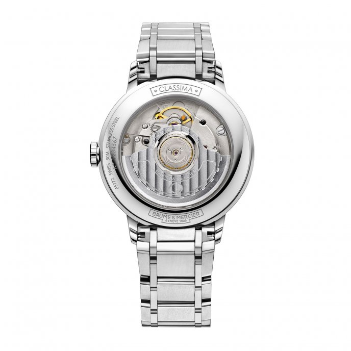 Baume & Mercier Classima Femme Automatique Acier Cadran Serti 8 Diamants 10221 Watch Back View