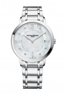 Women Quartz Steel Diamond-Set Dial