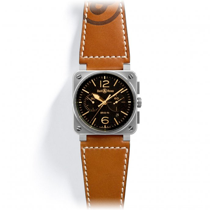 Bell & Ross Aviation BR 03-94 Golden Heritage - face view