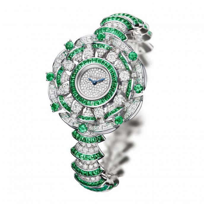 Bulgari Diva Haute Joaillerie Emeraudes watch-face-view