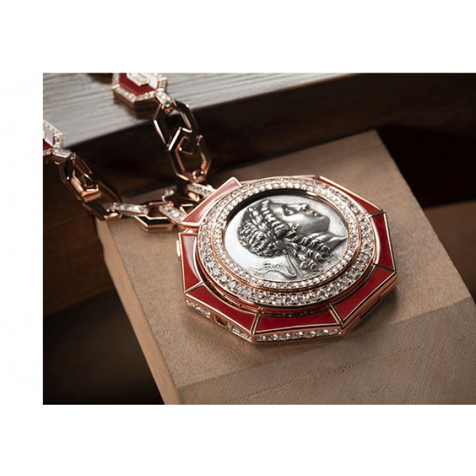 Monete Pendentif-Montre A Secret Haute Joaillerie High-Jewellery