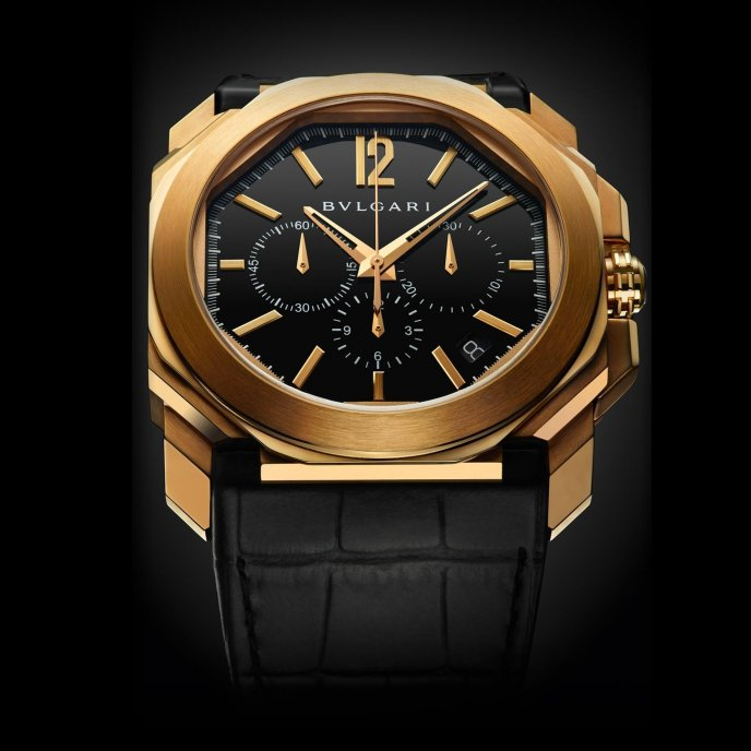 Bulgari Octo Velocissimo Rose Gold - watch face view