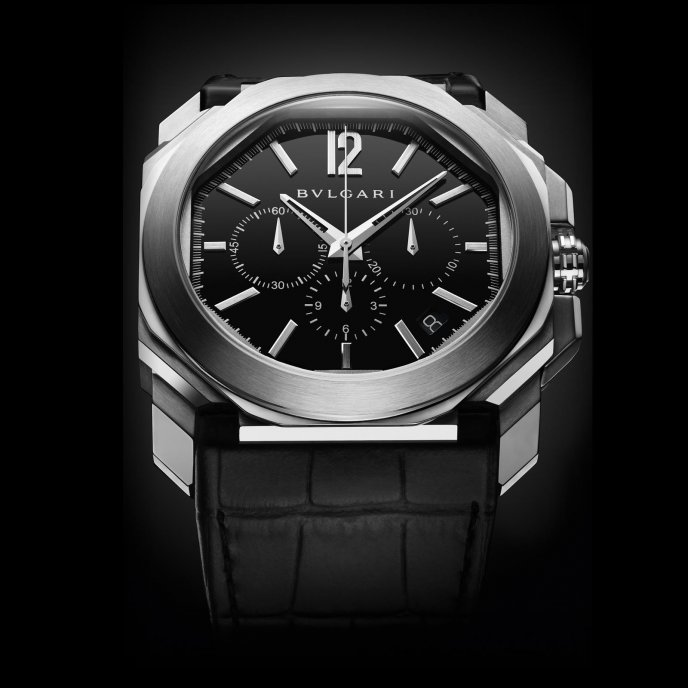 Bulgari Octo Velocissimo Steel - watch face view