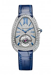Serpenti Seduttori Tourbillon Or blanc