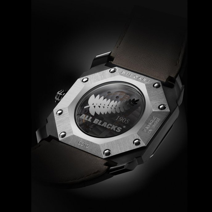 Bulgari Octo All Blacks watch back view