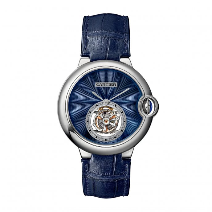 Cartier Ballon Bleu de Cartier Tourbillon Volant émail - watch face view