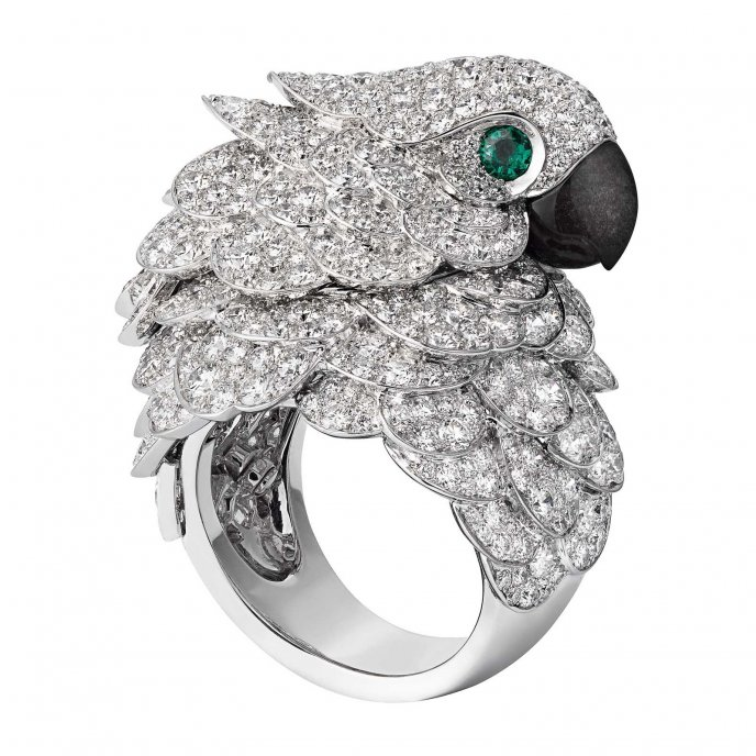 cartier-les heures fabuleuses-parrot watch and ring