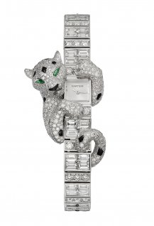 Baguette Panthère High Jewellery wristwatch