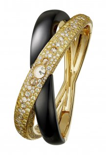 Saturne Dorée High Jewellery wristwatch