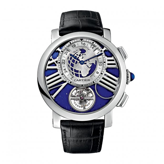 Cartier Montre Rotonde de Cartier Terre et Lune - watch face view