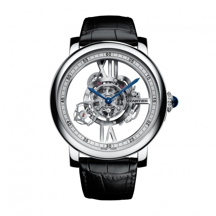 Rotonde de Cartier Astrotourbillon Squelette watch face view