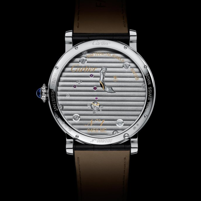 Cartier Rotonde de Cartier Reversed Tourbillon watch back view