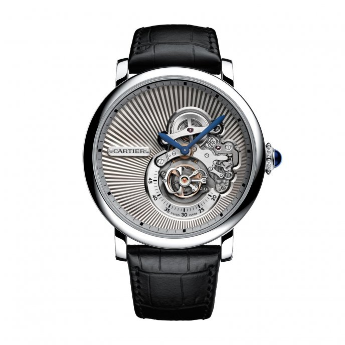 Cartier Rotonde de Cartier Reversed Tourbillon watch face view