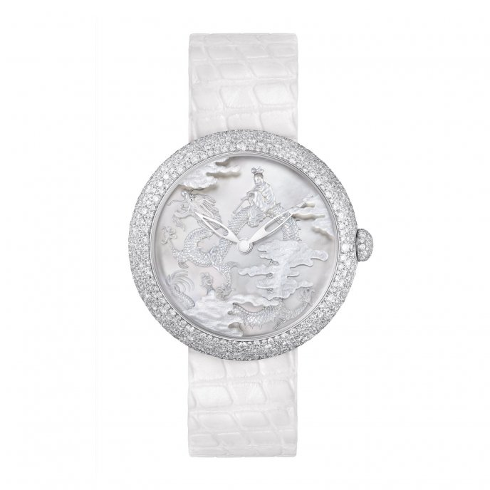 Chanel Mademoiselle Privé Décor Coromandel Nacre Sculptée Watch-face-view