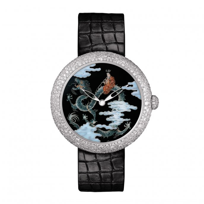 Chanel Mademoiselle Privé Décor Coromandel Email Grand Feu Watch-face-view