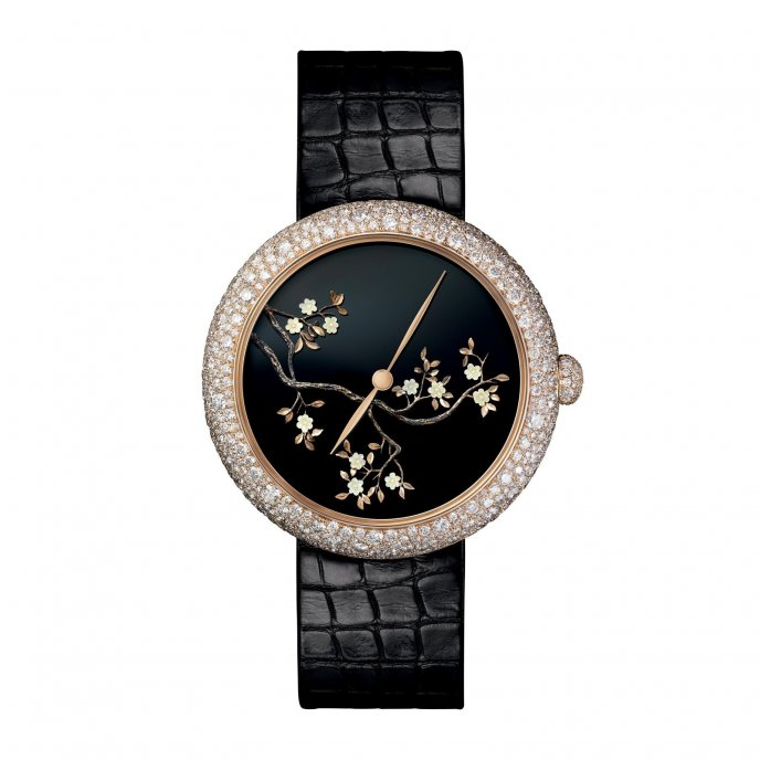 Chanel Mademoiselle Privé Décor Coromandel watch face view