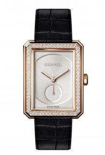 Beige gold large model with diamonds