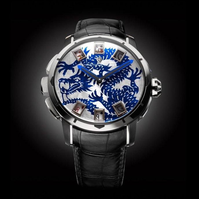 Christophe Claret Montres à Complications Ludiques Baccara MTR.BCR09.130-139 - watch face view