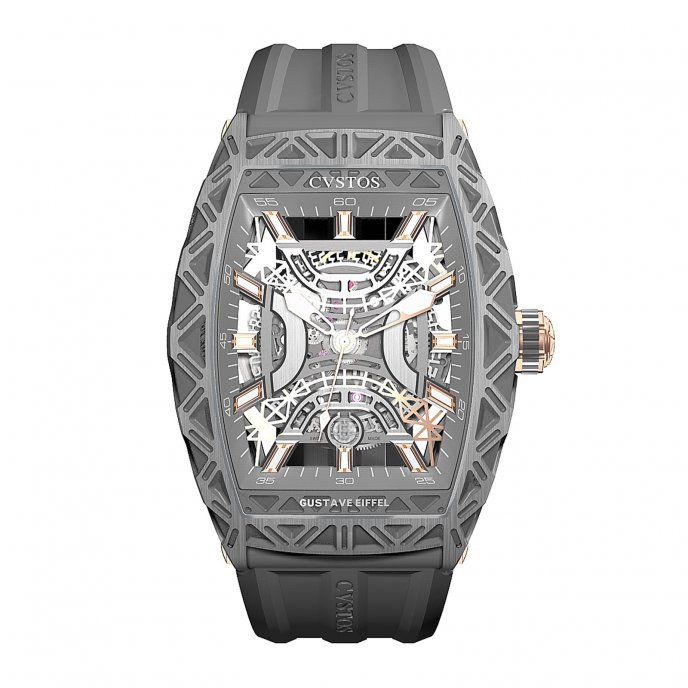 Cvstos Gustave Eiffel Acier Watch-face-view
