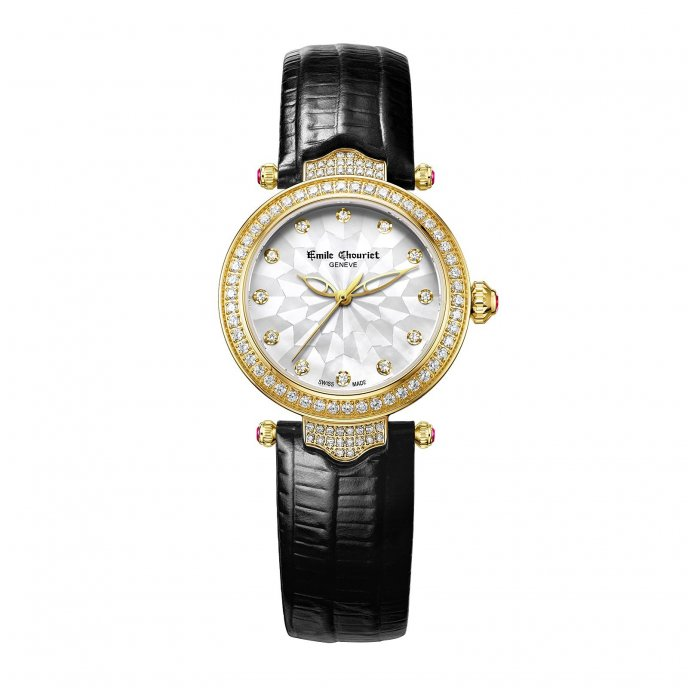 Emile Chouriet Fair Lady Acier Or Jaune Watch-face-view