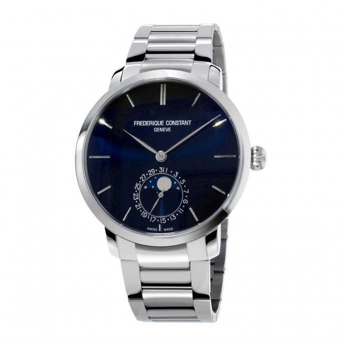 Frédérique Constant Manufacture Slimline Moonphase FC-705N4S6B2 watch-face-view