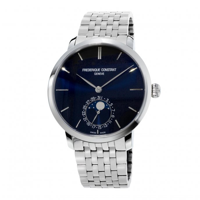 frédérique Constant Manufacture Slimline Moonphase FC-705N4S6B watch-face-view