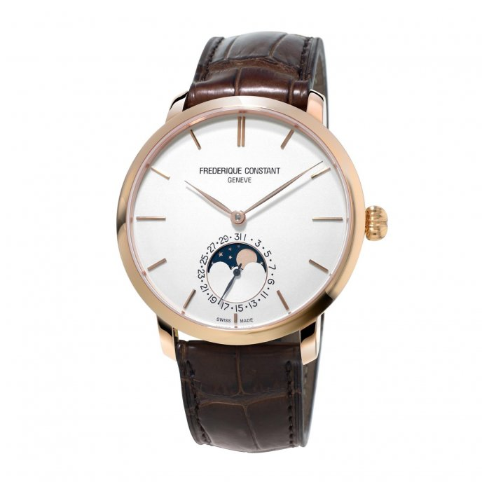 Frédérique Constant Manufacture Slimline Moonphase FC-705V4S4 watch-face-view