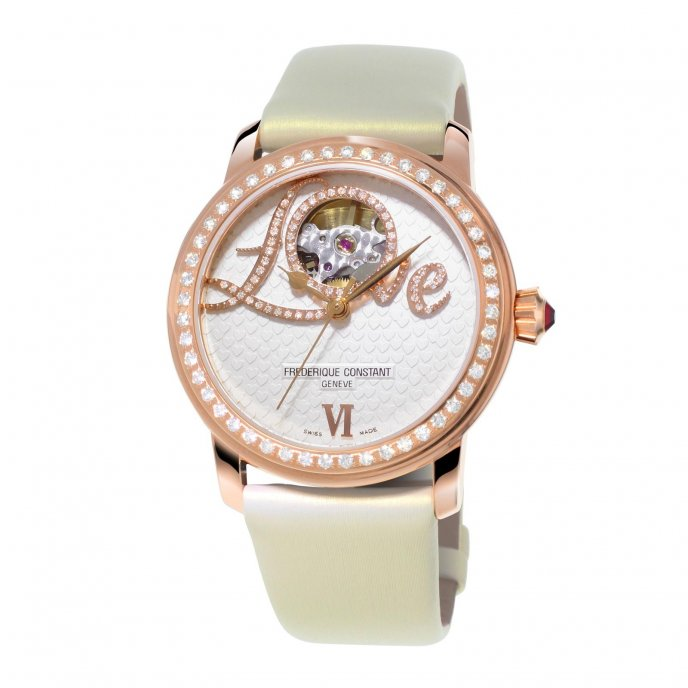 Frédérique Constant Ladies Automatic Love Heart Beat FC-310LHB2PD4 watch-face-view