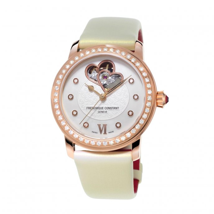 Frédérique Constant Ladies Automatic World Heart Federation FC-310WHF2PD4 watch-face-view