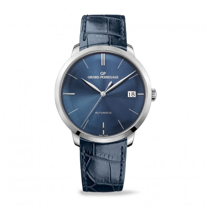 Girard Perregaux 1966 l'heure bleue 41 mm 49527-53-432-BB4A watch face view