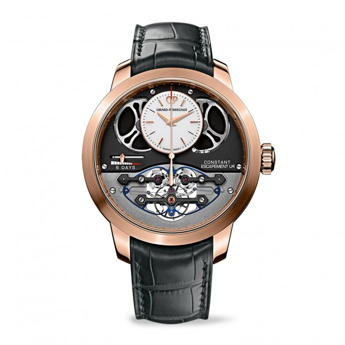 Girard-Perregaux Constant Echapement L.M Pink Gold Watch-face-view