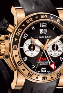 Oversize GMT Black Steel & Gold