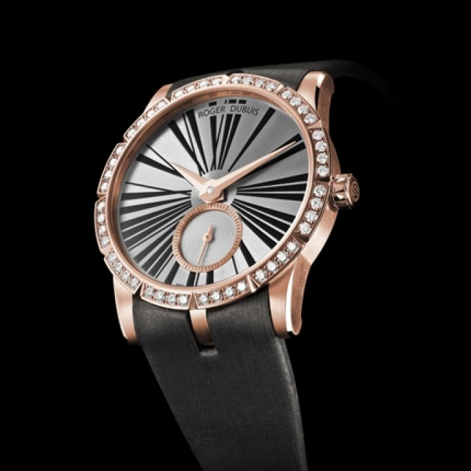 Roger Dubuis - Excalibur Lady Or Rose Sertie de Diamants