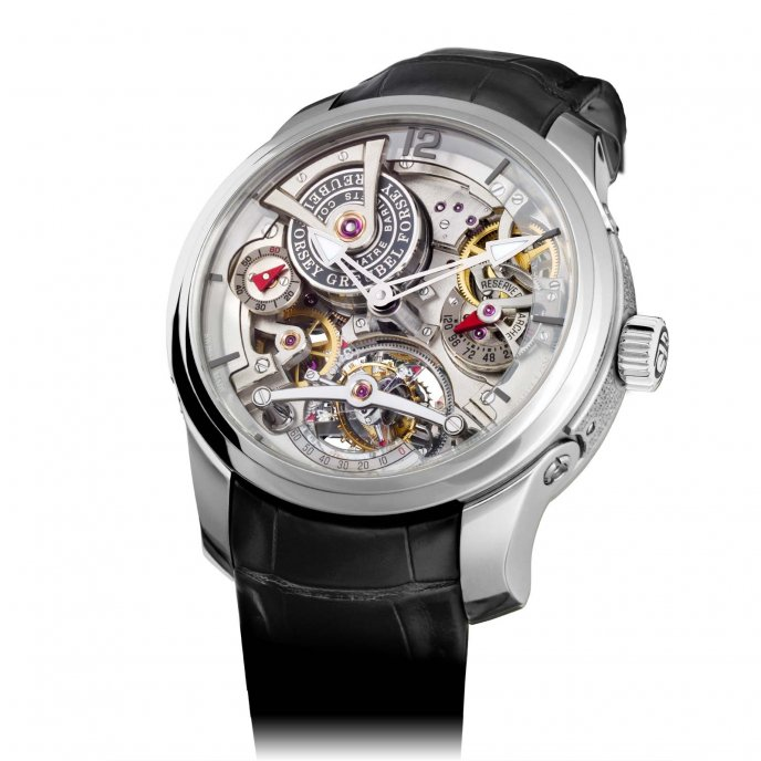 Greubel Forsey Double Tourbillon 30° Technique Platinum - face view