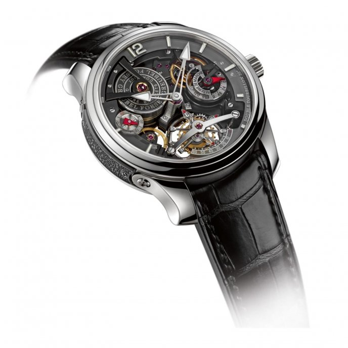 Greubel Forsey Double Tourbillon Technique 30Degrés Bi-color Watch-face-view