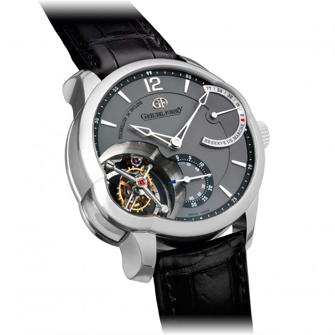 Greubel Forsey Tourbillon 24 Secondes Asymétrique White Gold Anthracite Dial - face view