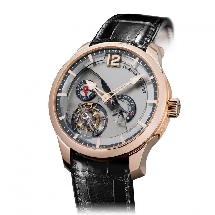 Greubel Forsey Tourbillon 24 secondes Contemporain red gold silvered dial - face view