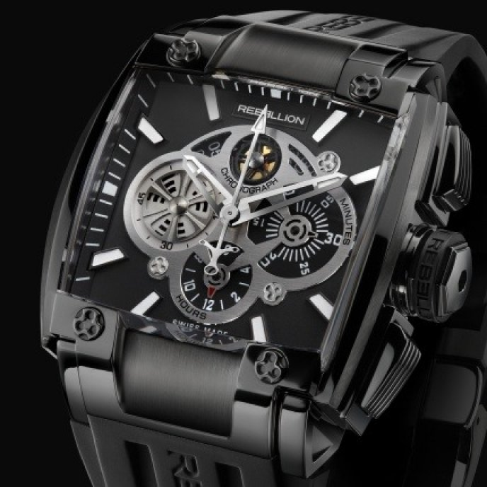 Rebellion - RE-1 Chronograph Black steel DLC
