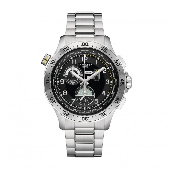 Hamilton Chrono Worldtimer watch face view