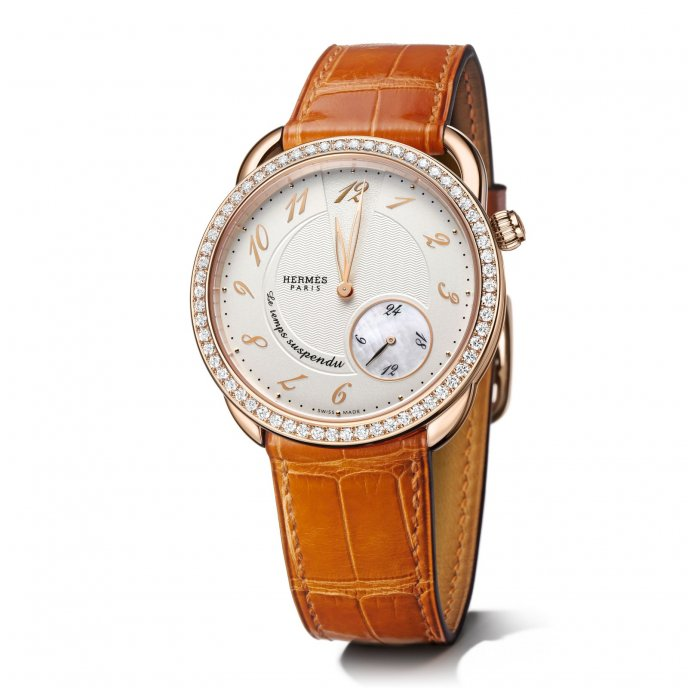 Hermès - Arceau - Le temps suspendu or rose Serti - 039539WW00 - AR7.471.213/ZAR