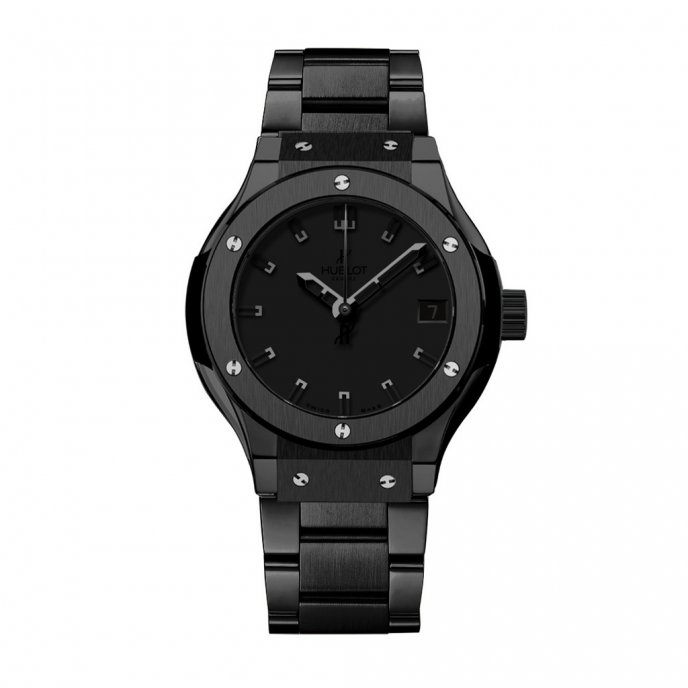 Hublot-Classic Fusion-All Black Bracelet 33mm-581.CM.1110.CM