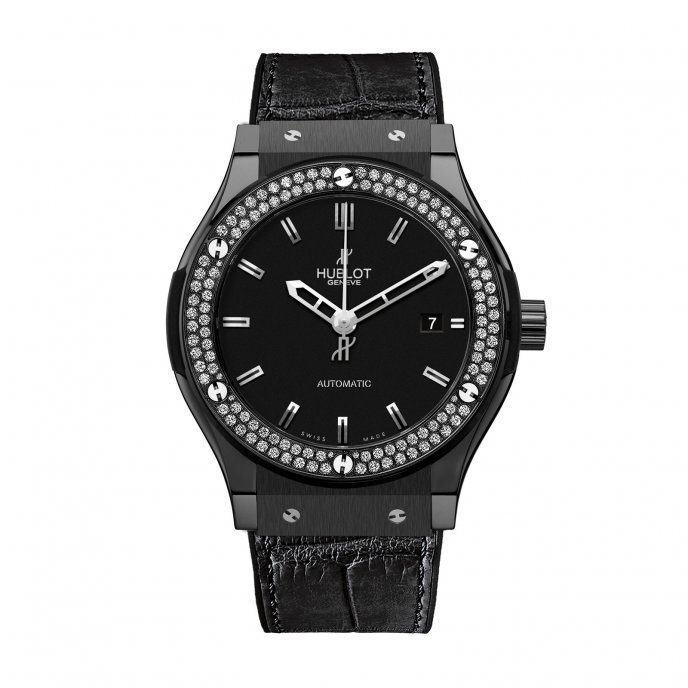 Hublot-Classic Fusion-Black Magic Diamonds 42mm-542.CM.1170.LR.1104