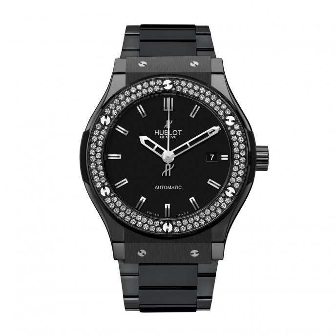 Hublot-Classic Fusion-Black Magic Diamonds bracelet 42mm-542.CM.1170.CM.1104