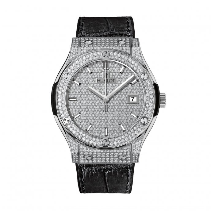 Hublot-Big Bang-Titanium Full Pavé 42mm-542.NX.9010.LR.1704