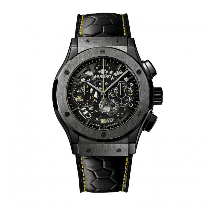 Hublot Aerofusion Chronograph Pelé watch-face-view