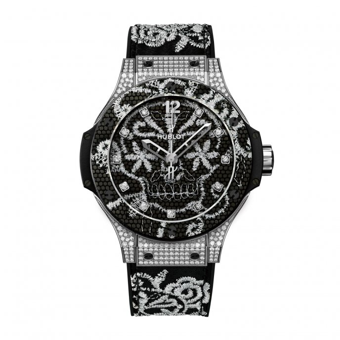 Hublot Big Bang Broderie 343.SX.6570.NR.0804 watch face view