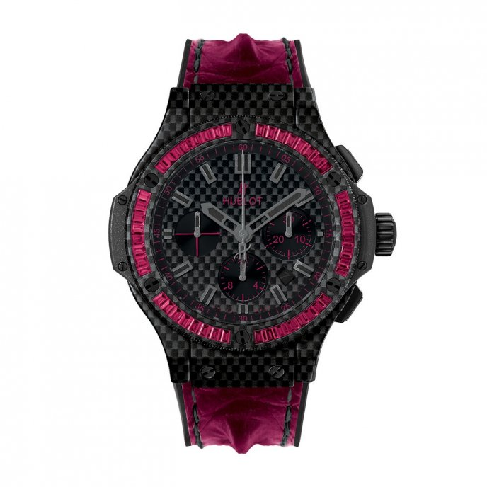 Hublot-Big Bang-Carbon Bezel-Baguette Rubis-301.QX.1740.HR.1904