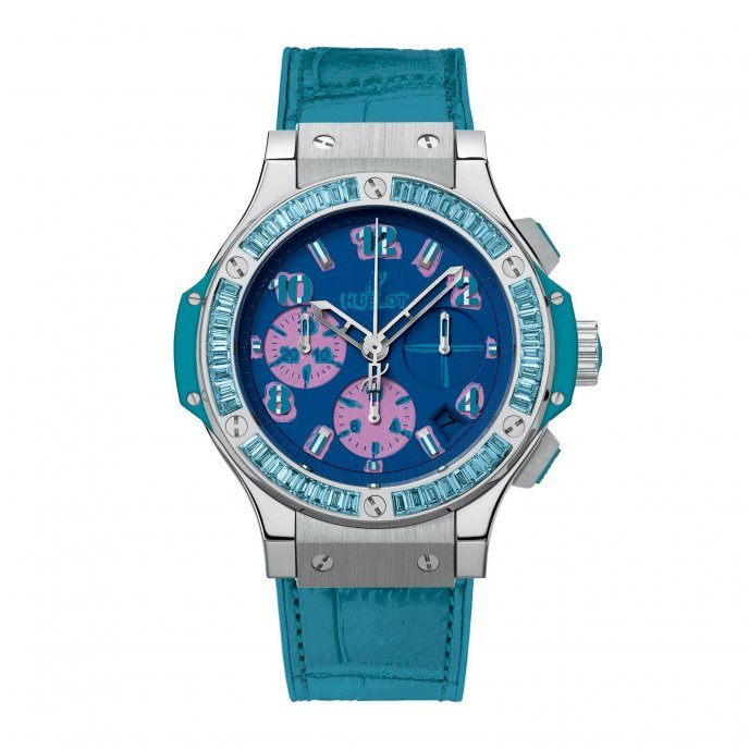 Hublot Big Bang Pop Art Steel Blue 341.SL.5199.LR.1907.POP14 - watch face view