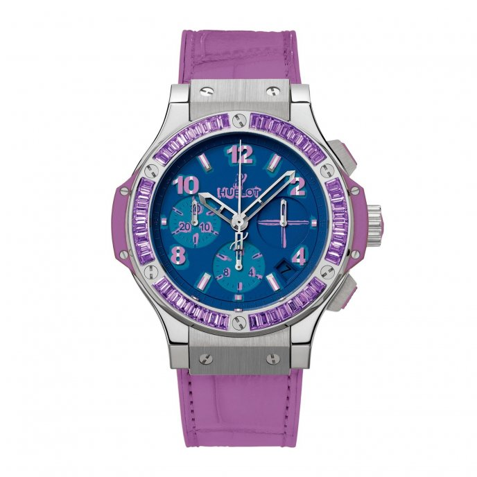 Hublot Big Bang Pop Art Steel Purple 341.SV.5199.LR.1905.POP14 - watch face view