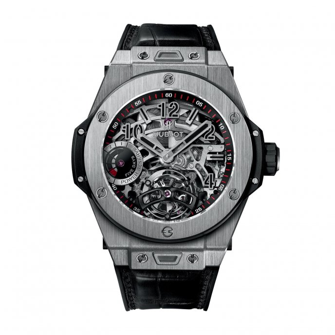 Hublot Big Bang Tourbillon Indicateur Reserve de Marche 5 Jours 405.NX.0137.LR watch face view